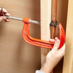Clamp a Nail - When there's no room for a hammer, sink the nail with a C-clamp. This trick works for plumbing and electrical straps, junction boxes, and even joist hangers.