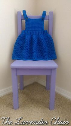 Overall Dress free crochet pattern - The Lavender Chair