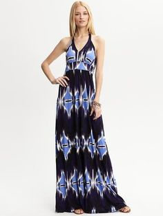 Haley printed halter patio dress | Banana republic | was £ 75 now £ 49.99