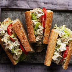 Easy and satisfying lunch recipes, including classic chicken salad sandwiches and Red quinoa salad with Brussels sprouts, apricots and almonds. Lunch Recipes, Wine Recipes, Great Recipes, Cooking Recipes, Favorite Recipes, Sandwich Recipes, Sandwich Ideas, Tofu Recipes, Delicious Recipes