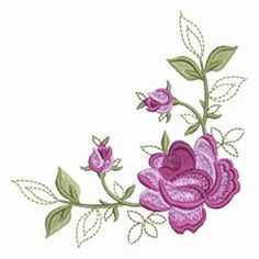 Wind Bell Embroidery Embroidery Design Pack: Elegant Red Roses