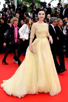 Fan Bingbing in Elie Saab Couture at the Cannes premiere for Jeune & Jolie on May 16, 2013.