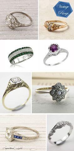 Vintage Rings #thingsthatmakemesmile