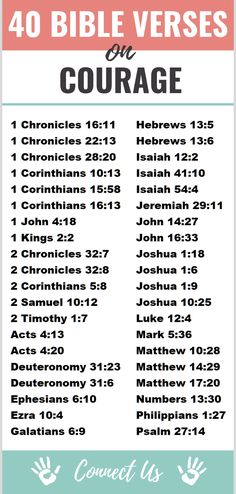 """Here are the 40 most transcendent Bible scriptures on courage. Joshua """"Have I not commanded you? Do not be frightened, and do not be dismayed, for the Lord your God Bible Study Tips, Bible Study Journal, Bible Lessons, Math Lessons, Prayer Scriptures, Bible Prayers, Courage Scripture, Bible Encouragement, Wisdom Scripture"""