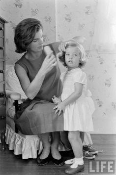 Jackie and Caroline Kennedy