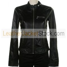 Women's  Zipper Pockets Biker Leather Jacket stock for all the seasons. Biker Leather Jacket is made of antique sheep\Cow Hide leather which will give you a refined casual feel.