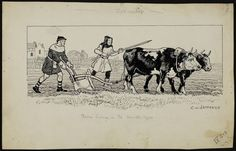 Farm Labor in the Middle Ages - moldboard plow with team of oxen