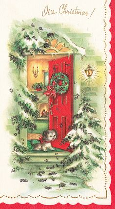 Vintage Christmas Card by jerkingchicken, via Flickr