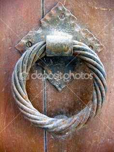 Old door knocker, iron ring