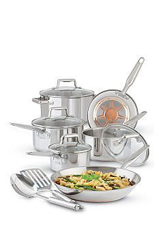 T-fal® Ultimate Stainless Steel Copper Bottom 12-Piece Cookware Set