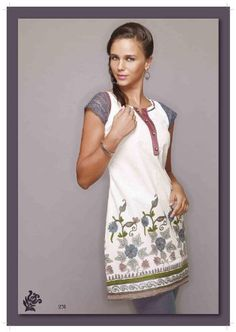 Indian Traditional Embroidery Work Ladies Blouse Tunic Top Kurta Kurti