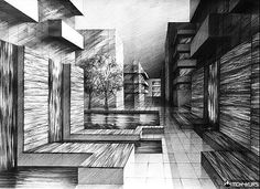Architektoniczny rysunek architektury projektu architektonicznego