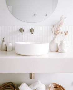 """ABI Bathrooms & Interiors on Instagram: """"Let's talk about - White & Bright 🌟  An all-white bathroom can sometimes look and feel a little cold... but if you invite the right…"""" All White Bathroom, Bathroom Interior, Invite, House, Bathrooms, Furniture, Bright, Cold, Home Decor"""