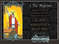 Get in-depth meanings for The Magician card! Upright & Reversed Tarot Card Meanings included for a more detailed Tarot Reading.