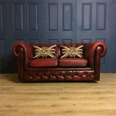 Leather-2-Seater-Sofa-Chesterfield-victorian-tan-cigar-club-Suite-Chair-Oxblood