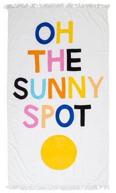 SUNNY SPOT BEACH TOWEL by Castle and Things. This just makes me happy... #beachtowel #summer #castleandthings