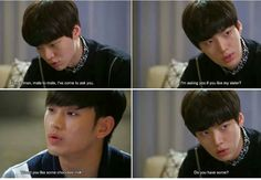 "Loved this scene from ""My Love From Another Star"" Ahn Jae Hyun. Korean Drama Funny, Oh My Ghostess, Ahn Jae Hyun, Hyun Kim, My Love From Another Star, Moorim School, Korean Shows, Drama Fever, Korean Actors"