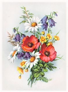 / Фото - 12 - can find Vintage flowers and more on our website. Art Floral, Floral Prints, Botanical Flowers, Botanical Art, Flower Tattoo Designs, Flower Tattoos, Vintage Flowers, Vintage Floral, F4 Boys Over Flowers