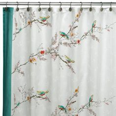 Simply Fine Lenox® Chirp 70-Inch x 72-Inch Fabric Shower Curtain - BedBathandBeyond.com