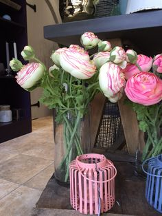 White and pink faux ranunculus. Perfect gift for a friend or just treat yourself to something beautiful for your home Ranunculus, Faux Flowers, Something Beautiful, Treat Yourself, Seasons, Plants, Gifts, Style, Fake Flowers