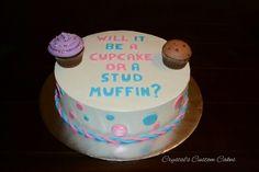 Adorable gender reveal cake ♡♡♡