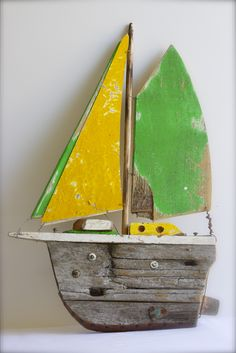 Kangaroo Island boat. made from driftwood found on the beach there.