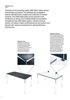 USM Haller Table by Fritz Haller & Paul Schärer, 1962 - Designer furniture by smow.com