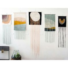 We are so honoured to share this brilliant new work by Lucy Poskitt as part of our Featured Artist Series. Five new weavings that explore… Weaving Wall Hanging, Weaving Art, Tapestry Weaving, Loom Weaving, Tapestry Wall Hanging, Hand Weaving, Wall Hangings, Weaving Projects, Tear