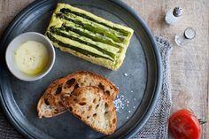 Midday Meal :: Asparagus Sformato, Fondanta + Pan Con Tomate