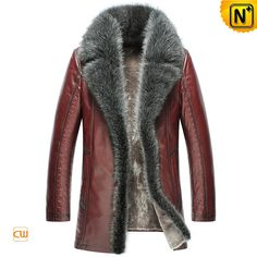 www.cwmalls.com PayPal Available (Price: $1645.89) Email:sales@cwmalls.com; Fashion Raccoon Fur Leather Shearling Coats for Men CW852556 Designer warm fur shearling sheepskin winter coats for men crafted from weather resistant thick shearling fur lining, raccoon fur collar and soft sheep leather exterior. Embossed leather shoulder, sleeve and pockets special design let you fashion-forward.