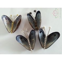 from mussels to butterflies - nice idea - seashell                                                                                                                                                                                 More