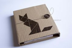 Notizbuch Pappe Tangram Fuchs XXL von bär von pappe auf DaWanda.com
