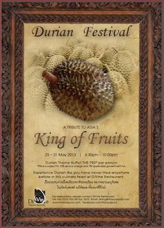2013 Durian Festival Schedule Indonesian Food, Leaf Art, Schedule, Madness, Avocado, Seeds, Banana, Asian, Cook