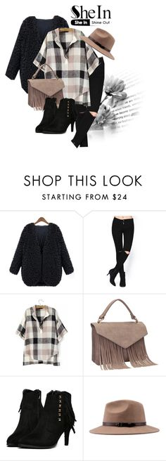 """SheIn.com contest - Win this black V neck coat!"" by teez-biz-nez ❤ liked on Polyvore"