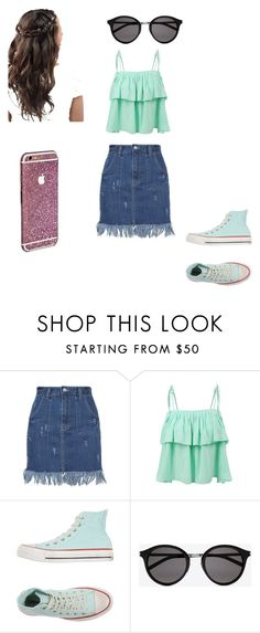 """""""Fan fiction"""" by camillastergaa on Polyvore featuring LE3NO, Converse, Yves Saint Laurent, women's clothing, women, female, woman, misses and juniors"""