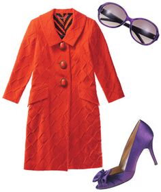 Pairing orange & purple