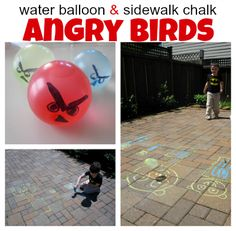 Can't get your kids away from video games?  Bring them outdoors for this awesome adaptation of Angry Birds.