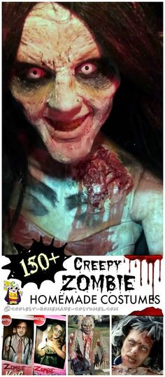 Fake Burned Skin Costumes, Fancy dress costume and Halloween costumes - zombie halloween ideas