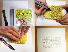 Ways to use Ramen. I like how it looks like writing.