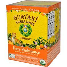 Guayaki, Yerba Mate, Organic Pure Endurance, 16 Tea Bags, 1.41 oz (40 g) - iHerb.com. Bruk gjerne rabattkoden min (CEC956) hvis du vil handle på iHerb for første gang. Da får du $5 i rabatt på din første ordre (eller $10 om du handler for over $40), og jeg blir kjempeglad, siden jeg får poeng som jeg kan handle for på iHerb. :-)