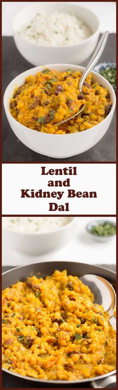 This vegan lentil and kidney bean dal is a really tasty red kidney bean curry. A perfect quick healthy meal to suit anyone who likes a medium hot curry.
