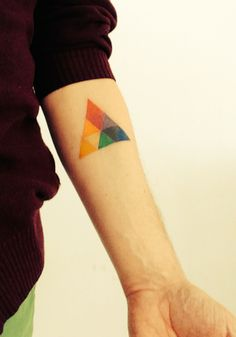 arm tattoo geometric color triangle Joseph Albers color theory