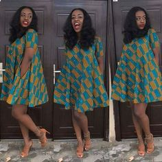 Ankara Short Dress Styles are now in Vogue for African Women - WearitAfrica Short African Dresses, African Blouses, Latest African Fashion Dresses, African Print Dresses, African Print Fashion, Africa Fashion, African Wear, African Attire, African Women