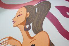 Hair Salon wall art Detail Επαγγελματικές τοιχογραφίες www.wallinart.gr