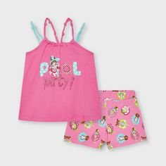 Short Niña, Short Girls, Floral Bags, T Shirt And Shorts, Leather Trainers, Girls Bags, Camellia, Shirts For Girls, Cotton Fabric
