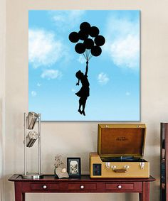 Balloon Girl Flying Gallery-Wrapped Canvas #zulily #zulilyfinds