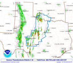 SPC Severe Thunderstorm Watch 34 Status Reports - http://blog.clairepeetz.com/spc-severe-thunderstorm-watch-34-status-reports/