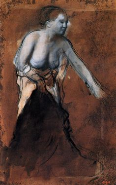 Standing Female Figure with Bared Torso - Edgar Degas