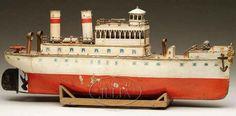 Märklin Tin-Ships St. Louis river boat with clockwork