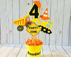 This Construction Birthday Party Dump Truck Construction Party is just one of the custom, handmade pieces you'll find in our centerpieces shops. Construction Birthday Parties, Cars Birthday Parties, Birthday Party Decorations, Birthday Banners, Birthday Invitations, Construction Party Decorations, Mouse Parties, Wedding Decorations, First Birthdays